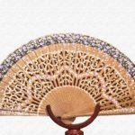 Bubinga wood fan