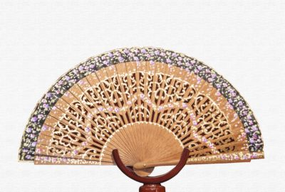 Bubinga wood fan