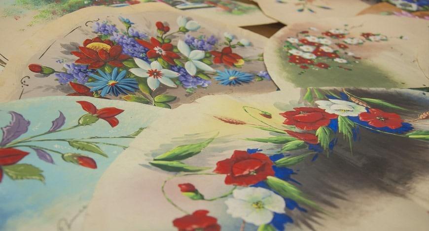 abanicos pintados