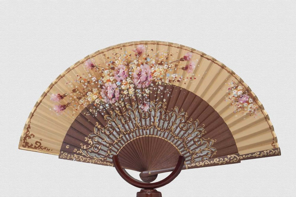 Polished Danta wood fan.