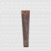 Polished Danta wood fan. Cotton hazelnut color cloth