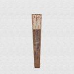Palo Santo polished wood fan. Ivory cotton fabric.