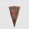 Danta wood fan tinted, brown cotton cloth