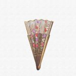 Palo Santo wood fan polished with ivory cotton cloth