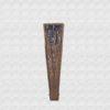 Palo Santo wood fan polished, black cotton fabric