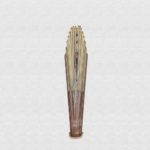 Palo Santo fan polished with ivory cotton cloth
